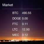 Shows value of alt-coins based on your local currency.